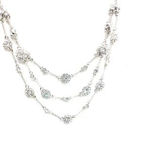 Givenchy Timeless Romance Crystal Rhodium Necklace